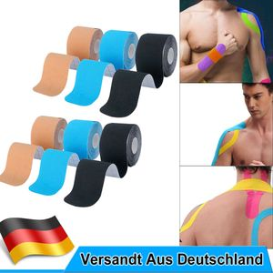 6 Rollen Elastisches Kinesiologielogie Tape Sport Kinesiologielogy Physiotape Tapes 5cm*5m