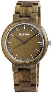 Raptor Uhr Holz Herrenarmbanduhr braun RA20242-004
