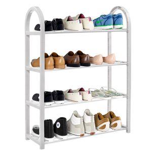 Schuhschrank Schuhregal Regal Schicht Schuhablage 4 Ebenen Schuhständer Hellgrau