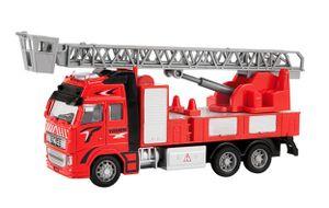 FEUERWEHRAUTO Korbleiter 23cm Rückzug 1:38 Feuerwehr Truck Auto Löschfahrzeug Geschenk Kinder Spielzeugauto Spielzeug 83