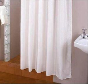 EXTRA LANG! Textil Duschvorhang weiß 200x250 cm inkl. RINGE 200 BREIT / 250 HOCH WEISS