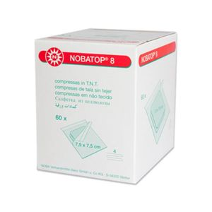 NOBA Nobatop 8 sterile Vliesstoffkompressen 4 - fach 50 x 2 Stück 7,5 x 7,5 cm