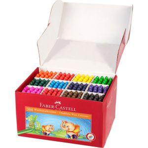 Kinder Wachsmalkreide Jumbo 384 Stück in 12 Farben sortiert, von Faber Castell