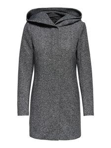 Only Damen-Woll-Mantel onlSedona Light Coat Otw 15142911, Größe:S, Farbe:Dunkelgrau