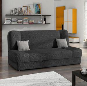 Mirjan24 Schlafsofa Jonas, Stilvoll Polstersofa vom Hersteller, Sofa mit Bettkasten und Schlaffunktion (Majorka 03 + Majorka 04)
