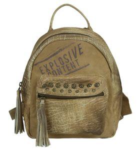 Sunsa Damen Rucksack Backpack kleine Schultertasche Umhängetasche Ranzen Daypack Vintagetasche in Vintage Retro Design Damentasche Frauentasche Canvas mit Leder klein Rucksäcke für Frau