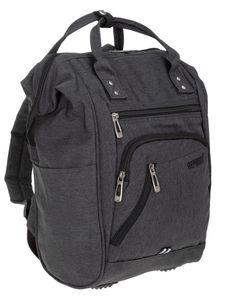 Rucksack Damen Freizeitrucksack mit Klappöffnung Elephant Finn Color Reiserucksack Tasche Handtasche 3437 Grau + Schlüßeletui