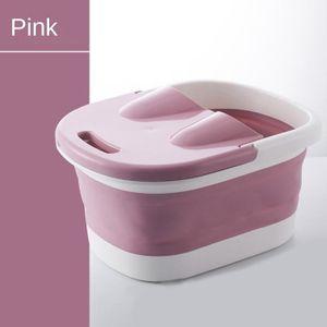 Faltbare Baden Badewanne Tragbare Fuß Spa Faltbare Fußbad für Frauen Männer Rosa modern Fußbadmassage 44 x 33 x 21,5 cm