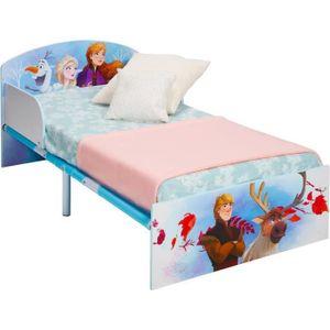 DISNEY FROZEN Kinderbett Frozen - Geeignet für Matratzen 140 x 70 cm - Blau