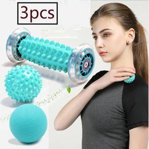 Igelball und Fußmassageroller Set für Plantarfasziitis, Faszien Muskel Roller & Bälle Set, Schmerzlinderung für Hacken, Stressreduzierung und Entspannung durch Triggerpunkt-Therapie