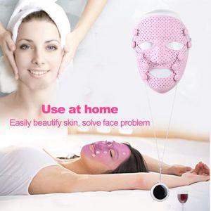 Silikon 3D Gesichts Maske Elektrische Vibration Schönheit Massager Haut Pflege Verjüngung Anti-falten Akne Entfernung Gesicht Schönheit Spa