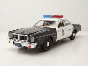 Dodge Monaco Police 1977 schwarz weiß Terminator Modellauto 1:24 Greenlight Collectibles