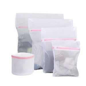 5Pcs Kleidung BH Unterwäsche Socken Wäschesäcke Wiederverwendbare Mesh Net Waschtasche