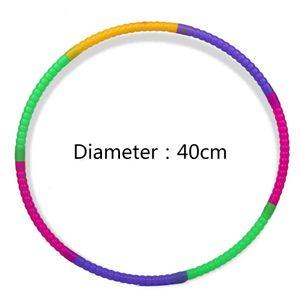 40CM Fitness Hula Hoop Gewichtsverlust Hula Hoop Professionelle Hula Hoop Kinder abnehmbare Farbe kleinen Hula Hoop