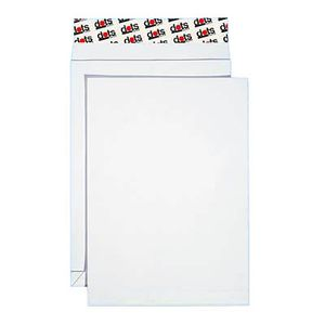 50 dots Faltenversandtaschen C4 ohne Fenster Falte 2 cm weiß