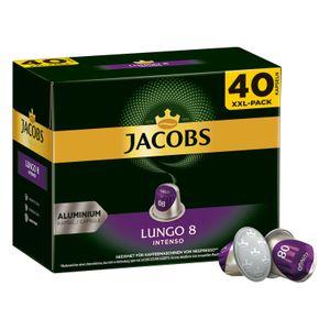 Jacobs Lungo 8 Intenso XXL-Pack | 40 Nespresso® komp. Kapseln