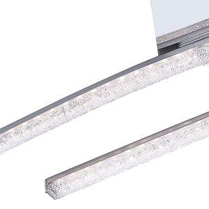 LED Deckenleuchte mit beweglichem Arm und Kristallen