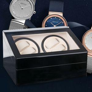 Automatik Uhrenbeweger Aufbewahrungsbox Uhrenbox Uhrenkasten Watch Winder Timer für 4+6 Uhren