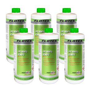 Flotex® LPG Ventilschutz, 6 x 1L für KFZ mit Autogas Anlage Reinigung & Schutz Ventile