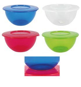 Salatschüssel Frischhaltedose Aufbewahrungsdose Schüssel mit Deckel 5 Liter 4 Stück Set farbig sortiert