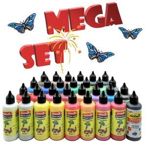 Window Color 30 Farben MEGA-Set / Fenstermalfarbe Fensterbild Malfarbe Glasfarbe