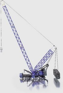 Siku Schwerer Mobilkran Baufahrzeug-Modell blau ; 4810