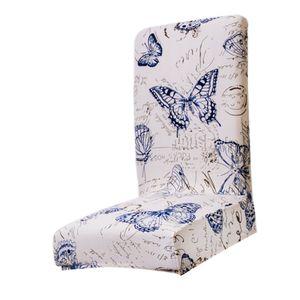 Klassische Stuhlhussen Stuhlbezug Stuhlüberzug Stretchhussen für Barhocker, Terrassenstühle, Hohe Belastbarkeit