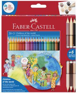 FABER-CASTELL Dreikant-Buntstifte Colour GRIP 20+3 Etui dreieckig