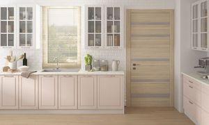 Küchenblock 340cm grau / verkehrsweiß - cremeweiß Matt lackiert Küchenzeile Landhaus