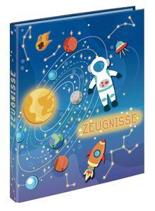 "Zeugnismappe mit 10 Hüllen/ Zeugnisringbuch / A4 / ""Space"""