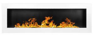 Gel- und Wand - Ethanol - Kamin 120 cm weiß hochglanz GelkaminEthanolkamin