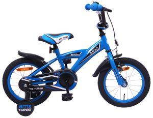 AMIGO Kinderfahrräder Jungen BMX Turbo 14 Zoll 21 cm Jungen Rücktrittbremse Blau