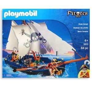 PLAYMOBIL 5810 Korsarensegler | Piratenschiff Boot schwimmfähig | Pirates