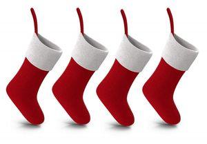 8X rote Weihnachtsstrumpf, Nikolausstiefel, Weihnachtssocken, Nikolausstrumpf, Nikolaus Socke Strumpf
