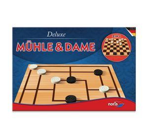 Noris Spiele Deluxe - Mühle & Dame; 606108012