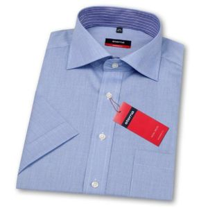 Eterna Herrenhemd Kurzarm 4297/15/C157 Modern Fit Blau Gr. M/39
