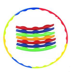 Kinder Hula Hoop Fitness Reifen 8-teilig Hüftmassage Sport Massage Gymnastik