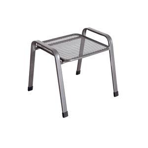 MWH Universal Hocker - Material: Metall, Farbe: Eisengrau, Maße: 51,5 cmx53 cmx47 cm; 879044