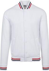 Urban Classics TB2084  3-Tone College Sweat Jacket , Größe:L, Farbe:white/firered/navy