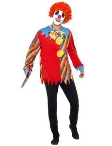 Herren Kostüm Horror Clown mit Maske Halloween