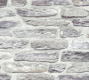 A.S. Création Steintapete Il Decoro Tapete in Naturstein Optik Vliestapete grau silber 10,05 m x 0,53 m