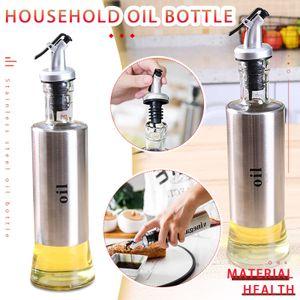 Kreative Edelstahlpresse Gewürzflasche Auslaufsichere Ölflasche