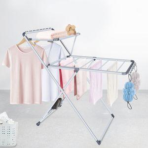 Bigzzia Ausziehbarer Wäscheständer, Wäschetrockner, Wäscheständer, Knock Knees, Installationsfrei