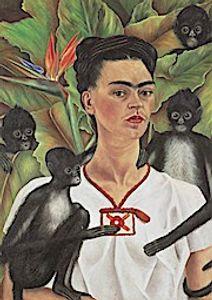 Frida Kahlo Selbstbildnis mit Affen