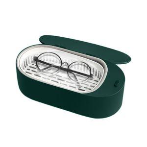 KKmoon Mini Ultraschall Schmuckreiniger 400ml Tragbare professionelle Ultraschallreinigungsmaschine fuer Brillen Zahnersatz Uhren Rasiermesser Ohrringe Halsketten Ringe Werkzeuge Kleine Artikel