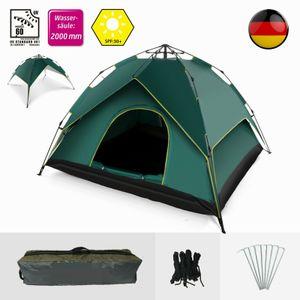 SOGOODS Zelt Sekundenzelt Campingzelt 3-4 Personen Wurfzelt Outdoor Wurfzelt Tent pop-up,260 x 230 x 160 CM,Grün