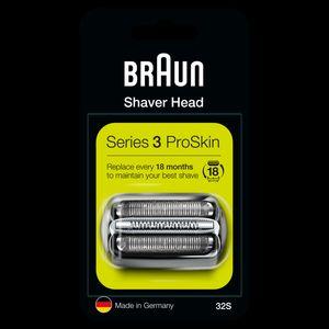 Braun Series 3 32S Elektrorasierer Ersatzscherteil – silber