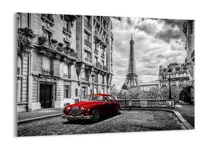 """Glasbild - 100x70 cm - """"Raubtier in der Stadt""""- Wandbilder  - Paris Stadt Turm - Arttor - GAA100x70-3214"""