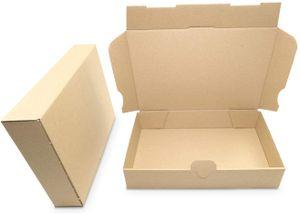 verpacking 100 Maxibriefkartons Versandkartons Faltschachtel Faltkarton Maxibrief 240 x 160 x 45 mm | Braun | MB-3