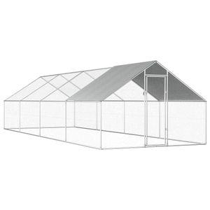 Outdoor-Hühnerk?fig 2,75×8×1,92 m Verzinkter Stahl
